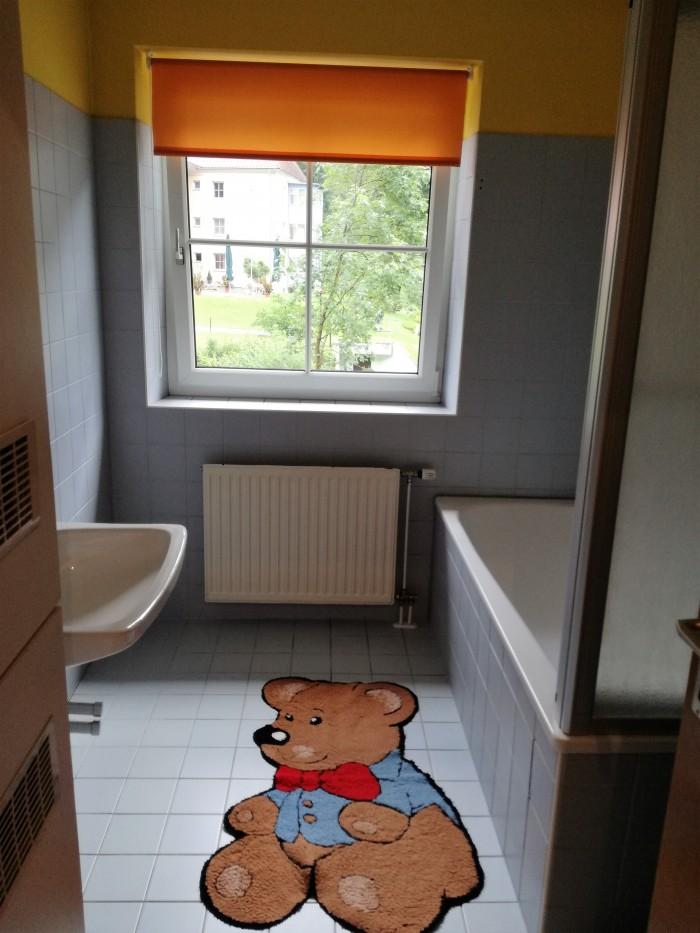 Badezimmer im Apartment
