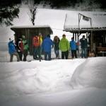 Blick auf die Eisstockbahn