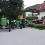 Anreise mit dem Traktor